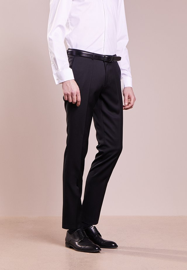 HENFORD - Suit trousers - black