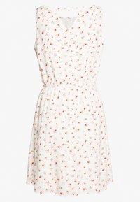 TOM TAILOR DENIM - PRINTED DRESS WITH BACK STRAP - Day dress - white - 1