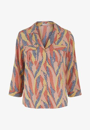 Button-down blouse - misty rose