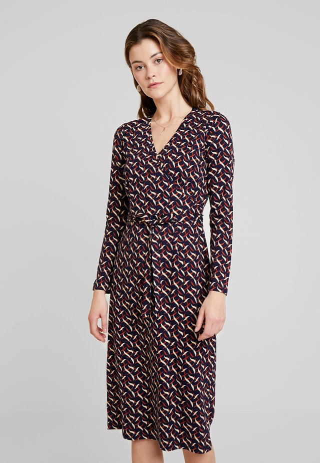 ANJA DRESS SWIRL - Jersey dress - blue