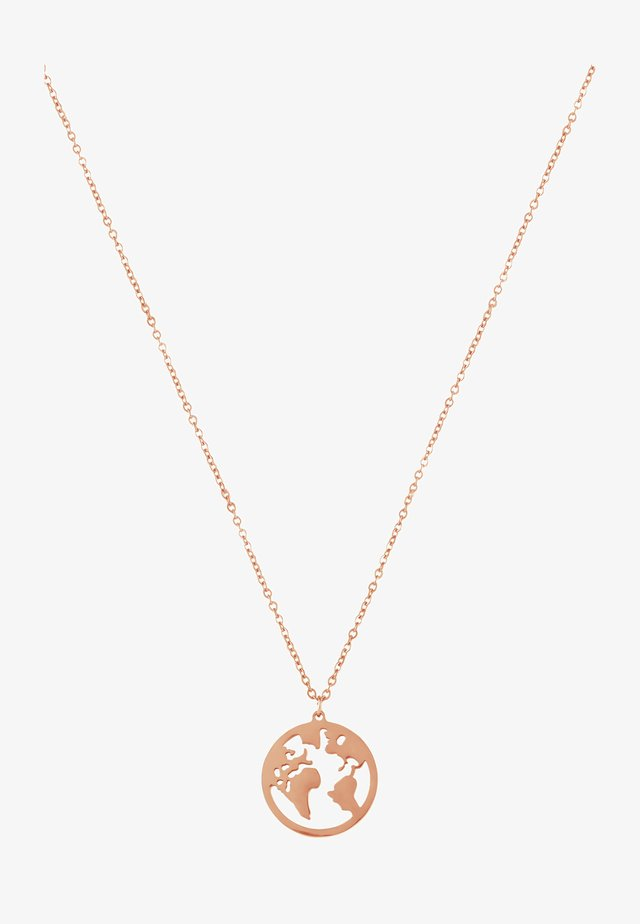WELTKUGEL GLOBUS - Necklace - rose gold-coloured
