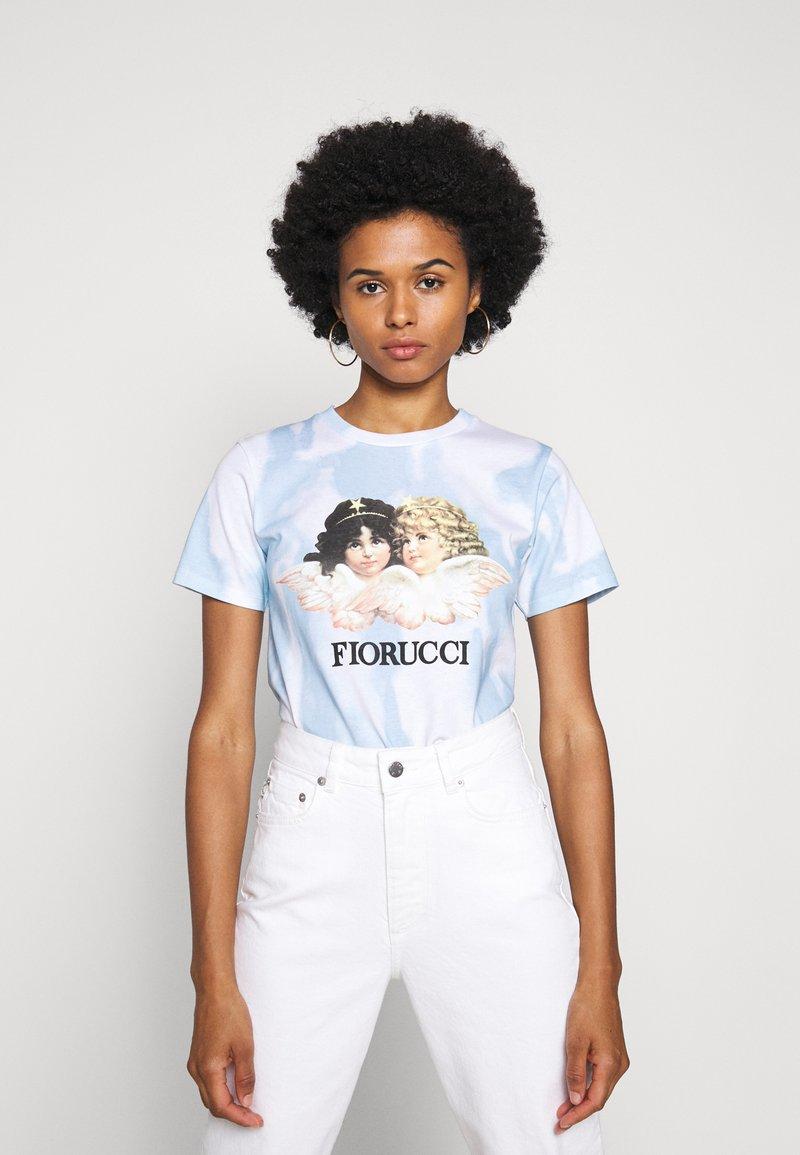Fiorucci - TIE DYE ANGELS TEE  - T-shirt con stampa - blue