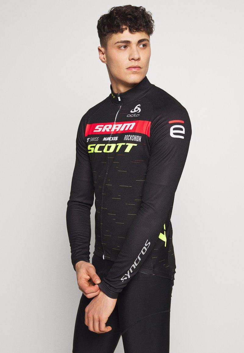 ODLO - STAND UP COLLAR FULL ZIP SCOTT SRAM - Sports shirt - black