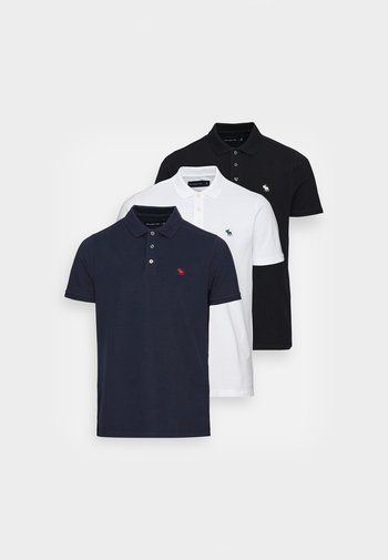 CORE 3 PACK - Polo - white/navy/black