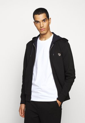 MENS ZIP HOODY - Felpa aperta - black