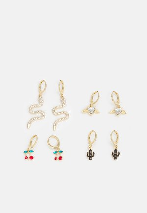 PCMACY EARRINGS 4 PACK - Earrings - gold-coloured