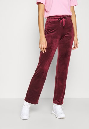 CECILIA TROUSERS - Tracksuit bottoms - cordovan
