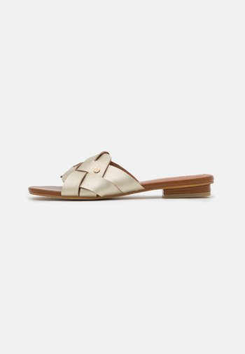 FINJA LOOPS - Mules - gold