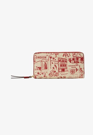 PERRY PRINTED ZIP CONTINENTAL WALLET - Peněženka - red destination