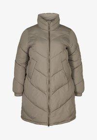 Zizzi - Winter coat - green - 1