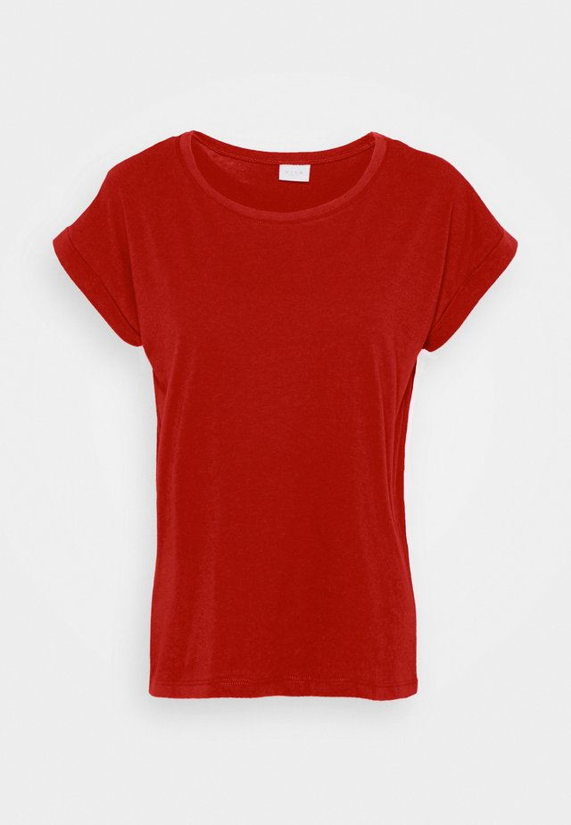 VIDREAMERS PURE - T-shirts - red dahlia