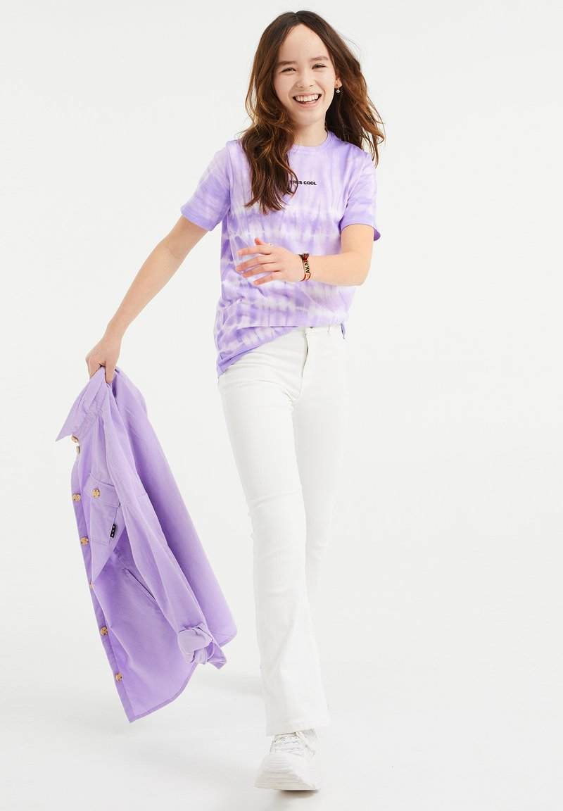 WE Fashion - T-shirt z nadrukiem - purple