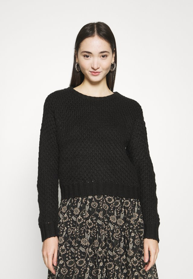 MOSS STITCH - Jumper - black