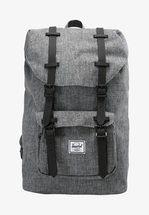 LITTLE AMERICA - Rucksack - raven crosshatch/black rubber