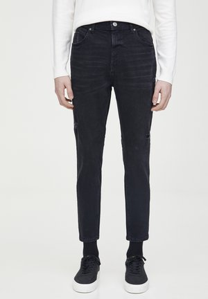 SCHWARZE KAROTTENJEANS 05682523 - Jeans Tapered Fit - dark grey