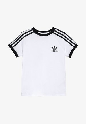 STRIPES  - Print T-shirt - white/black