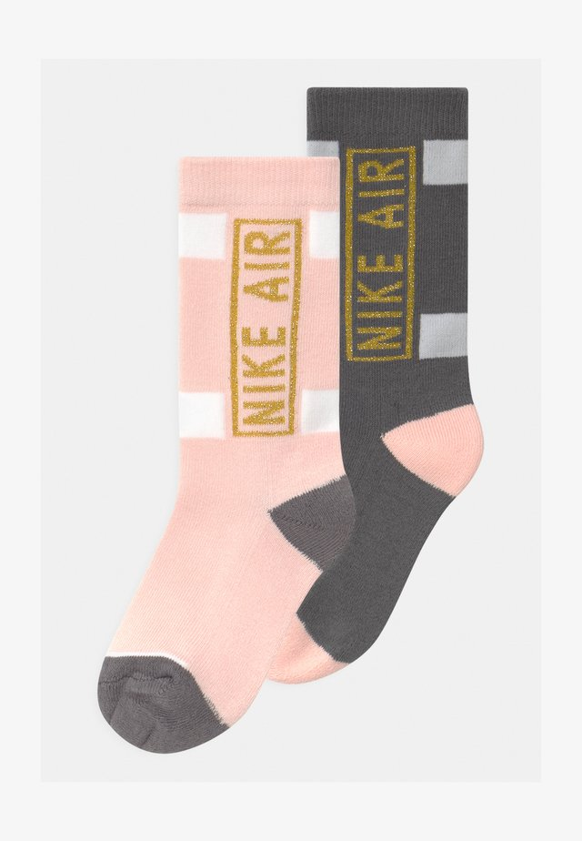 AIR CREW 2 PACK UNISEX - Calcetines - echo pink
