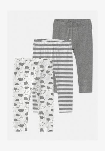 NBNLEGGING CLOUDS 3 PACK - Leggings - Trousers - grey melange