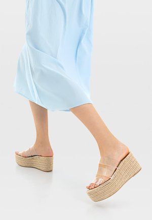 Heeled mules - off-white
