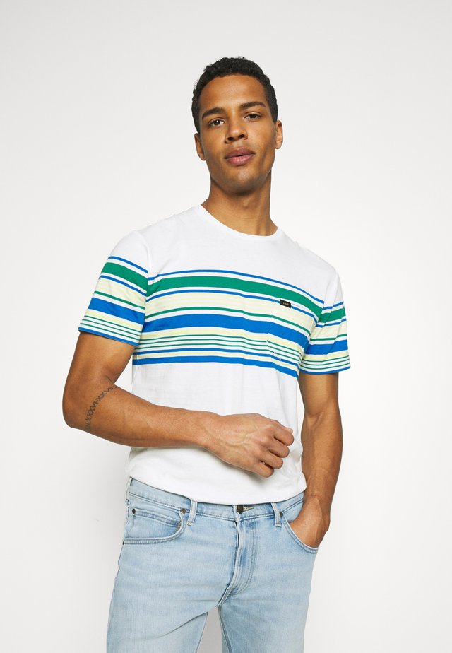 STRIPY TEE - T-shirt con stampa - ecru