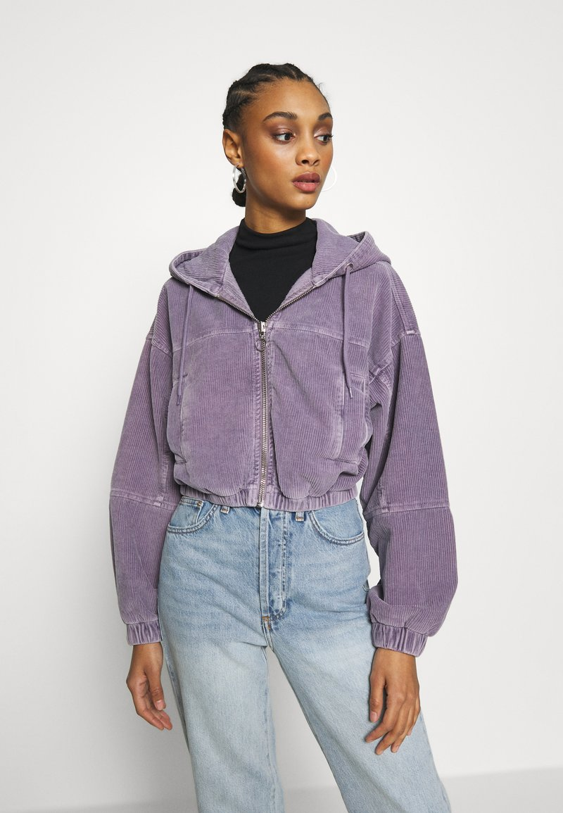 BDG Urban Outfitters - HOODED JACKET - Bomber Jacket - lilac