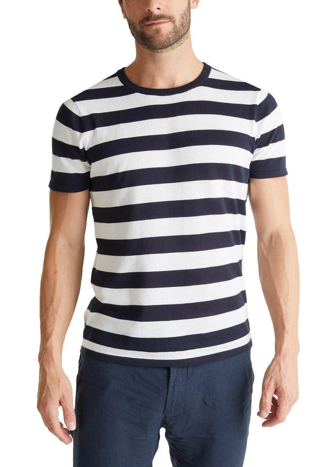 Nyt Og Mode Mode Stil Tøj til herrer Esprit Collection T-shirts print navy ms2lCv DHwrSg