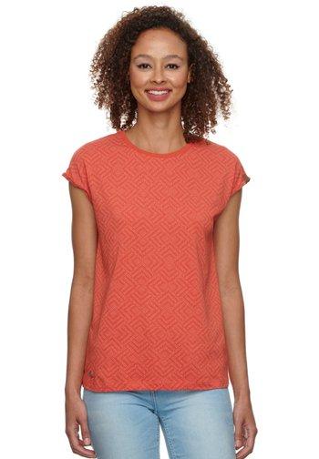 Print T-shirt - chili red