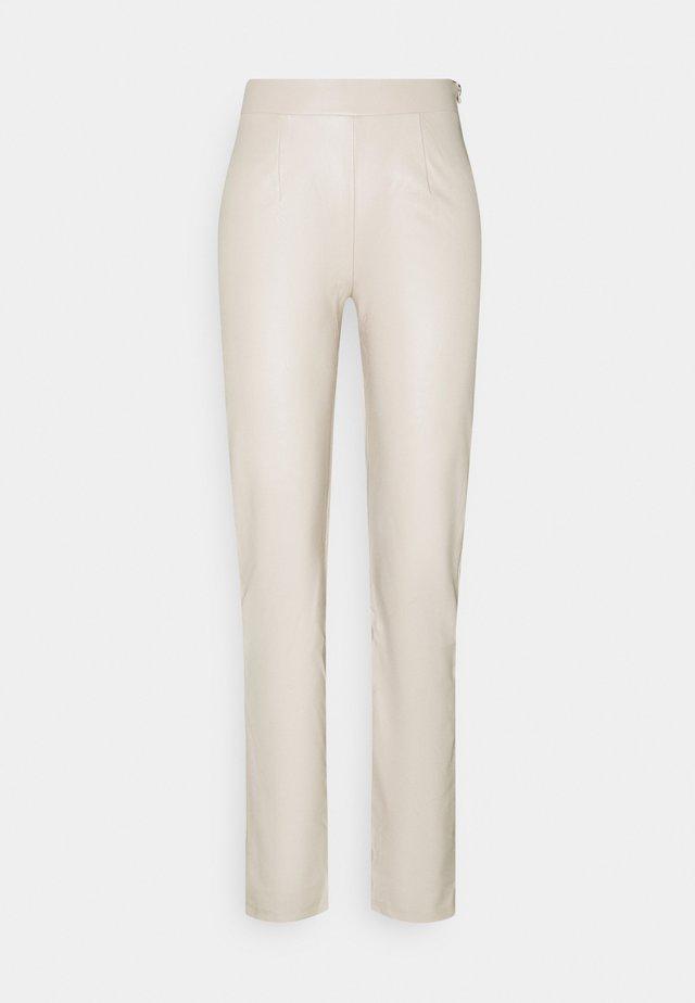 TAILORED PANTS - Kangashousut - beige
