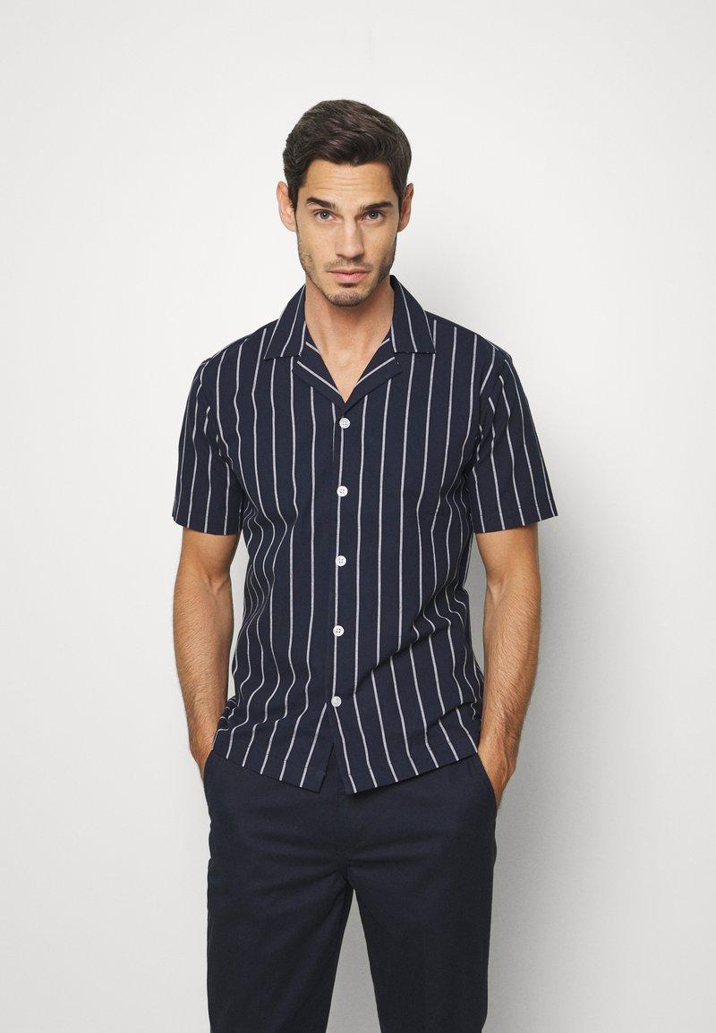 Lindbergh - STRIPED RESORT  - Shirt - dark blue