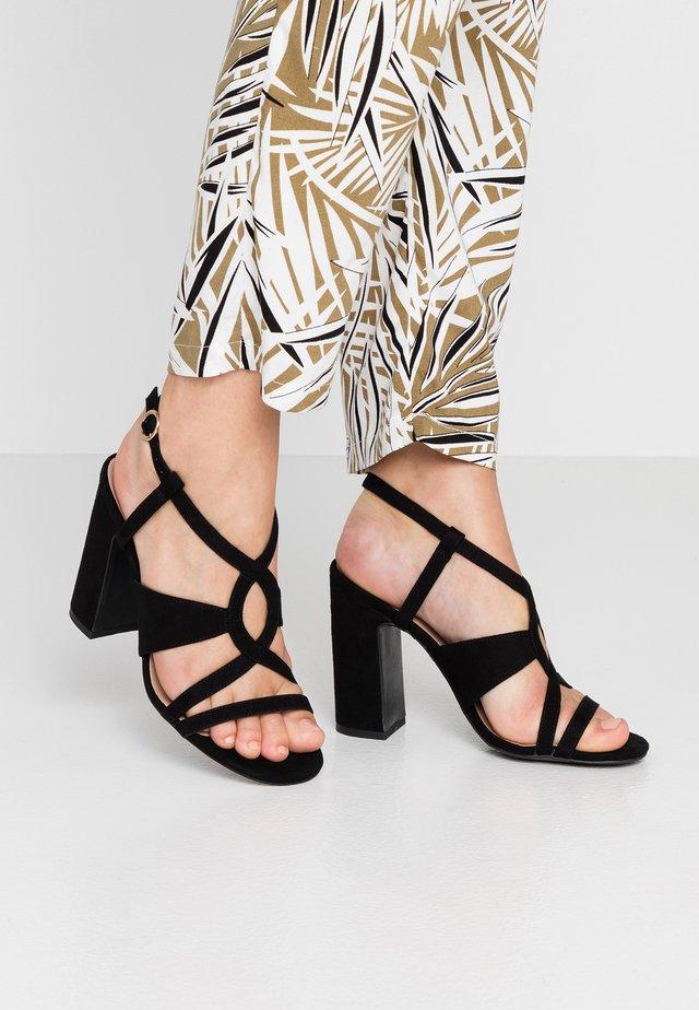 SWIRLEY  - High heeled sandals - black