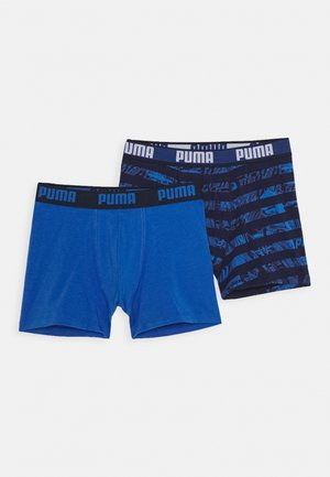 KIDS COLLAGE STRIPE BOXER 2 PACK - Panties - blue