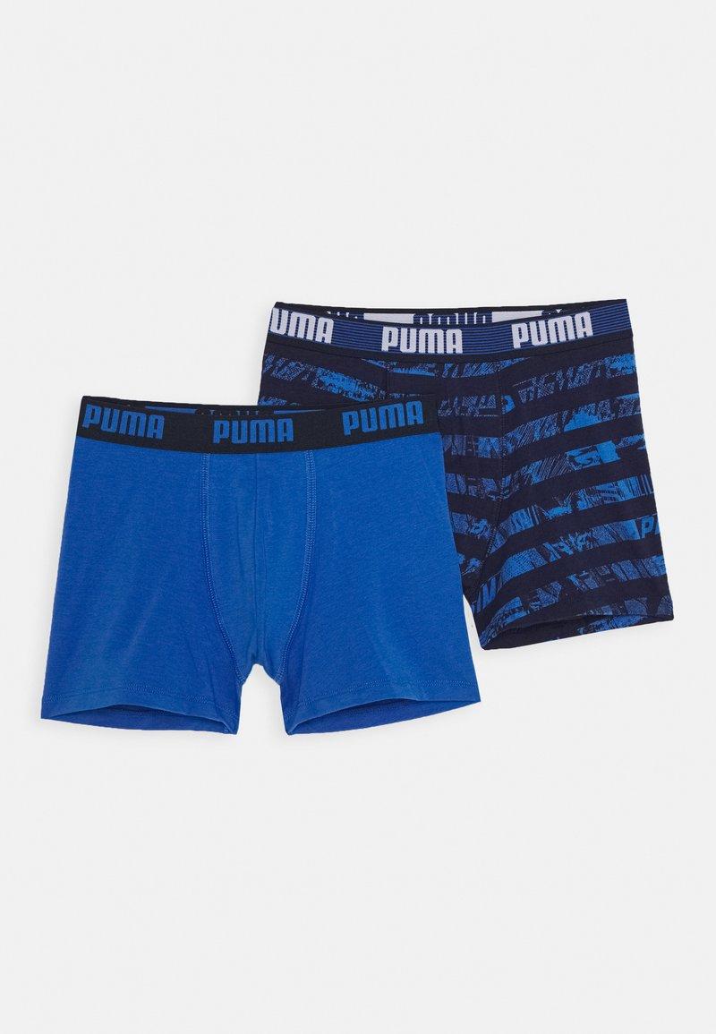 Puma - KIDS COLLAGE STRIPE BOXER 2 PACK - Pants - blue