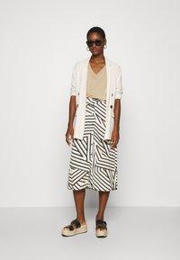 Moss Copenhagen - AVIANNA RAYE SKIRT - A-line skirt - beige - 1