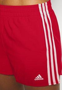 adidas Performance - Krótkie spodenki sportowe - scarlet/white - 4