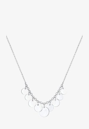 GEO LOOK PLÄTTCHEN - Necklace - silver-coloured
