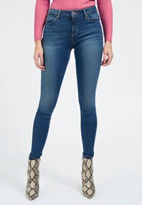 Guess - USED-OPTIK - Jeans Skinny Fit - blau - 0
