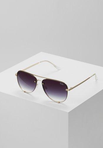 HIGH KEY MINI RIMLESS - Gafas de sol - gold-coloured/black