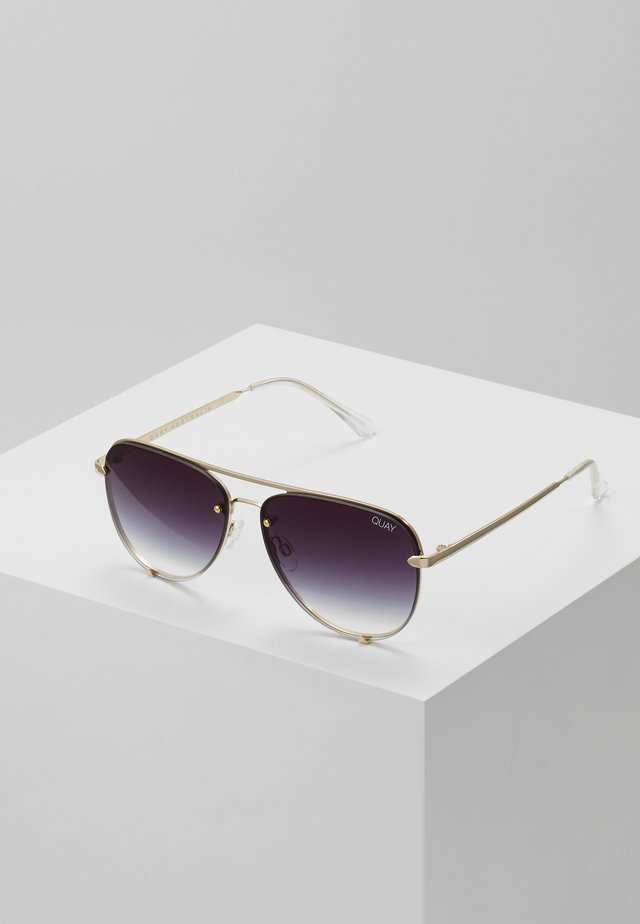 HIGH KEY MINI RIMLESS - Solbriller - gold-coloured/black