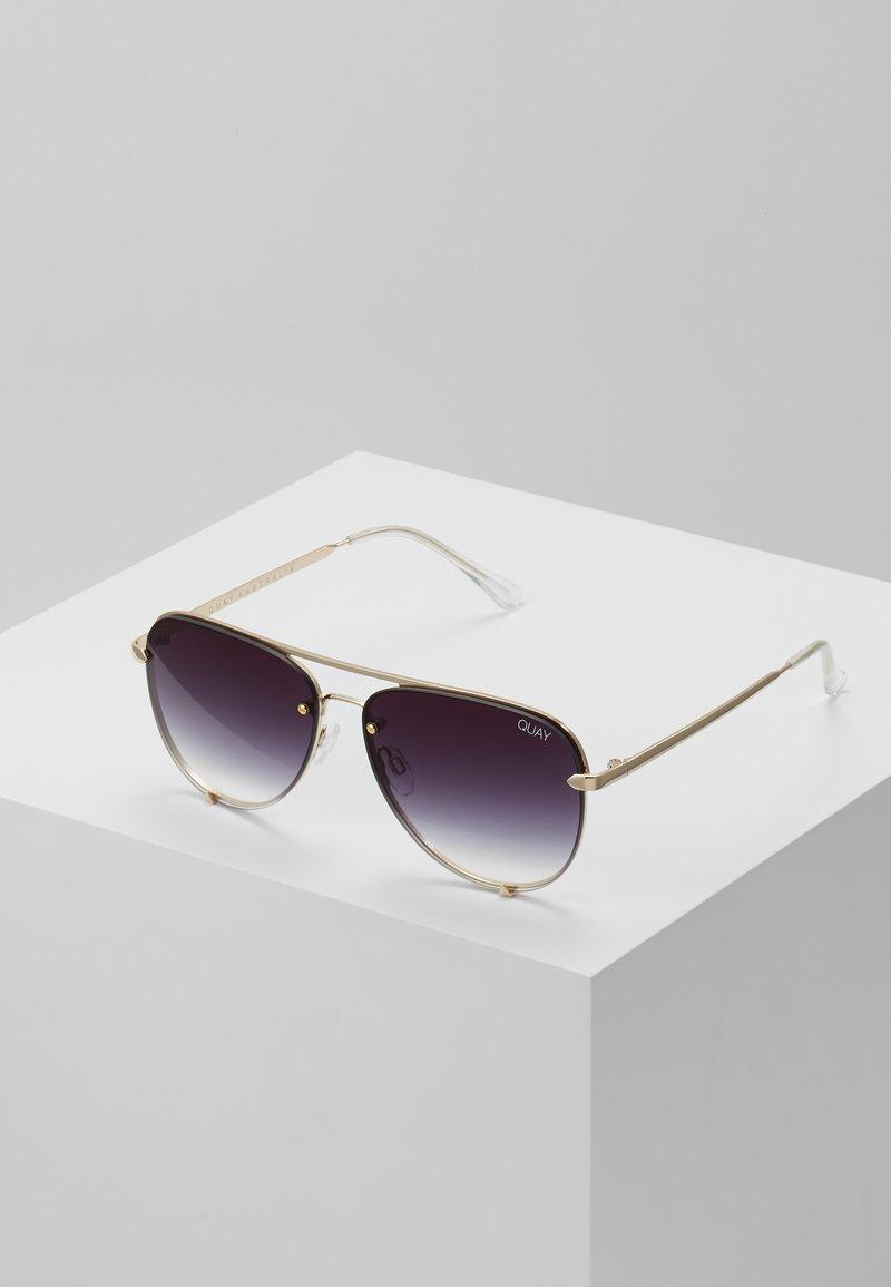 QUAY AUSTRALIA - HIGH KEY MINI RIMLESS - Sunglasses - gold-coloured/black