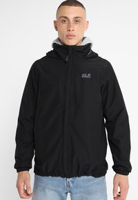 Jack Wolfskin - STORMY POINT JACKET  - Veste imperméable - black - 0
