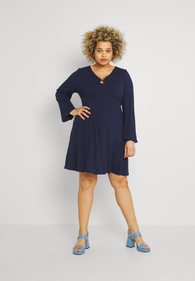 O RING SKATER DRESS - Denní šaty - navy