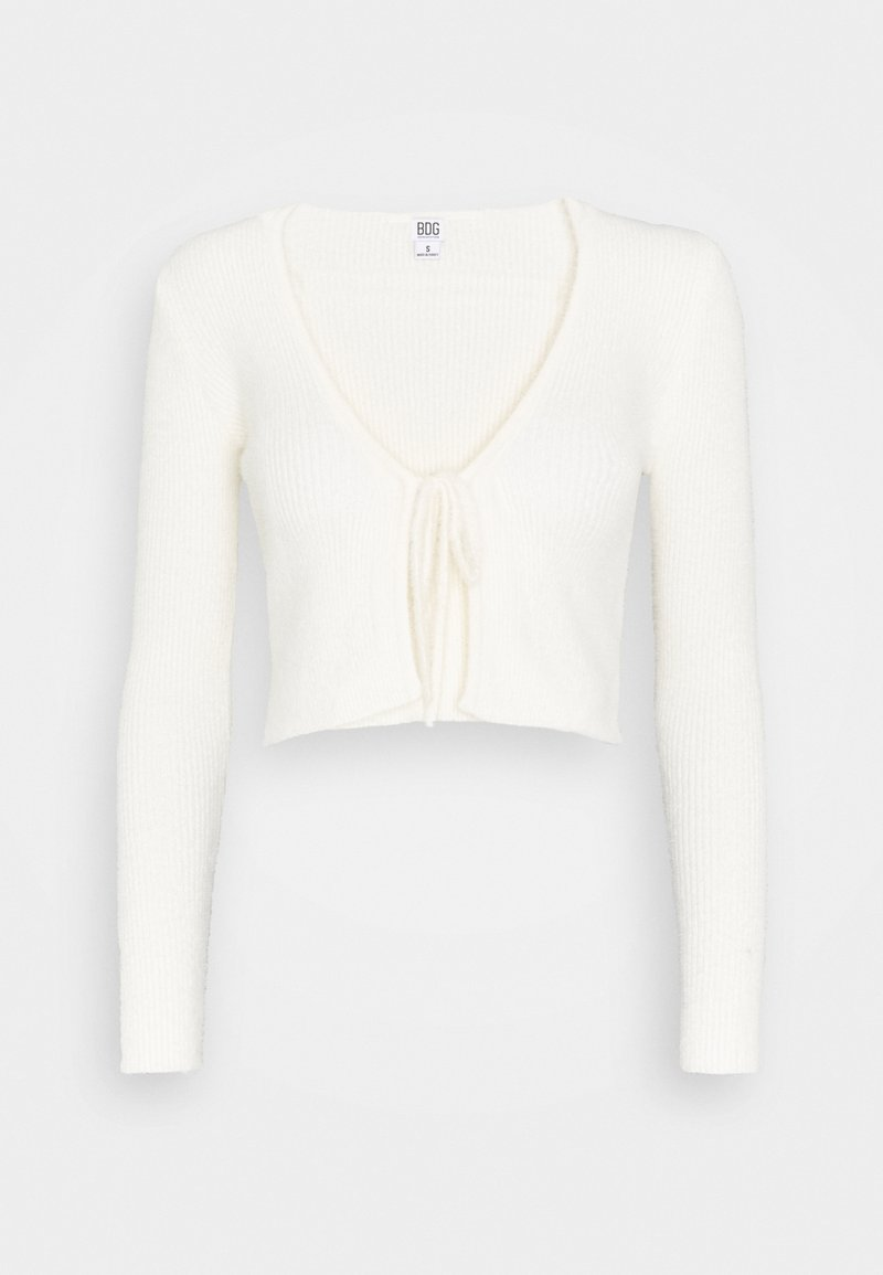 BDG Urban Outfitters - NOORI TIE FRONT CARDI - Cardigan - ivory
