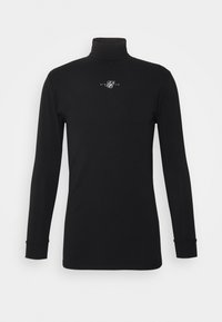 SIKSILK - SIKSILK TRANQUIL TURTLE NECK TEE - Longsleeve - black - 3