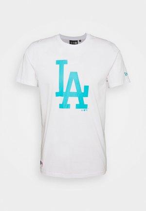 LOS ANGELES DODGERS MLB SEASONAL TEAM LOGO TEE - Club wear - white