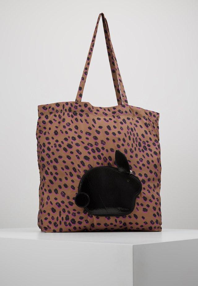 WOMEN BAG PACK RABBIT - Shopping bag - leo print/black rabbit