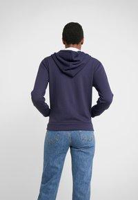 J.CREW - LINED HOODIE - Zip-up hoodie - navy - 2