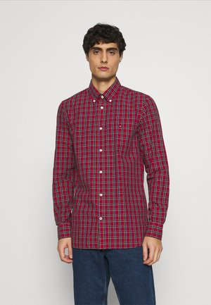 SLIM SMALL TARTAN CHECK - Koszula - red
