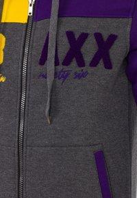 18CRR81 Cerruti - Zip-up hoodie - antraciet-geel - 4