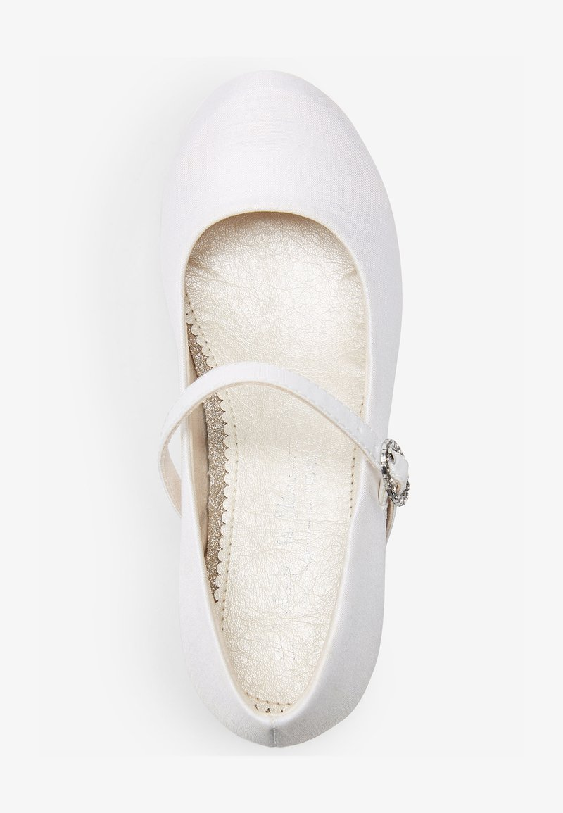 Next - Ankle strap ballet pumps - off-white