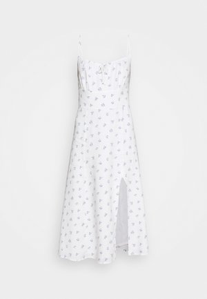 PRINT MIDI DRESS - Denní šaty - white grounded